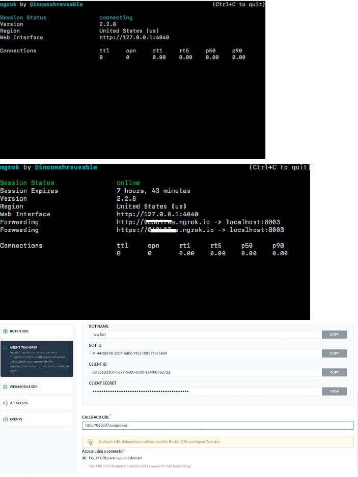 Error Trying Agent Transfer Task on BotKitSDK Tutorial - APIs and